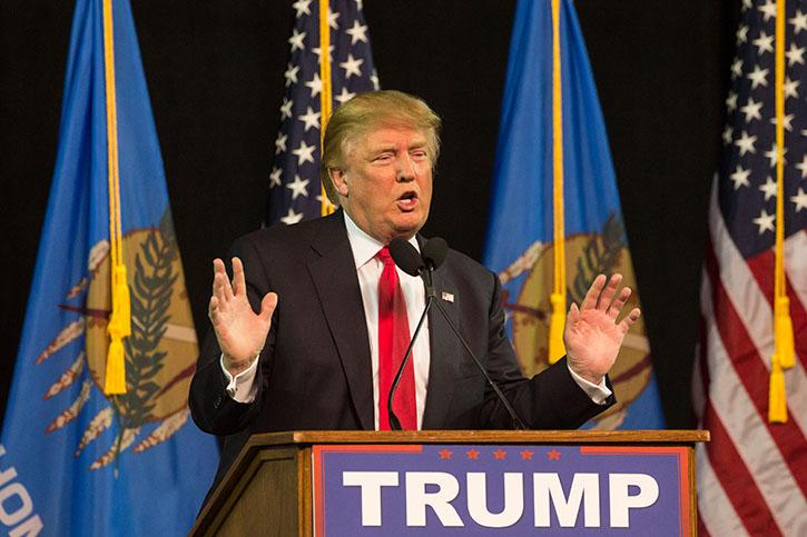 Trump+speaks+to+a+crowd+in+Tulsa%2C+Oklahoma.+Around+15%2C000+people+attended+the+event.+Jack+Settle%2FMediaPrime