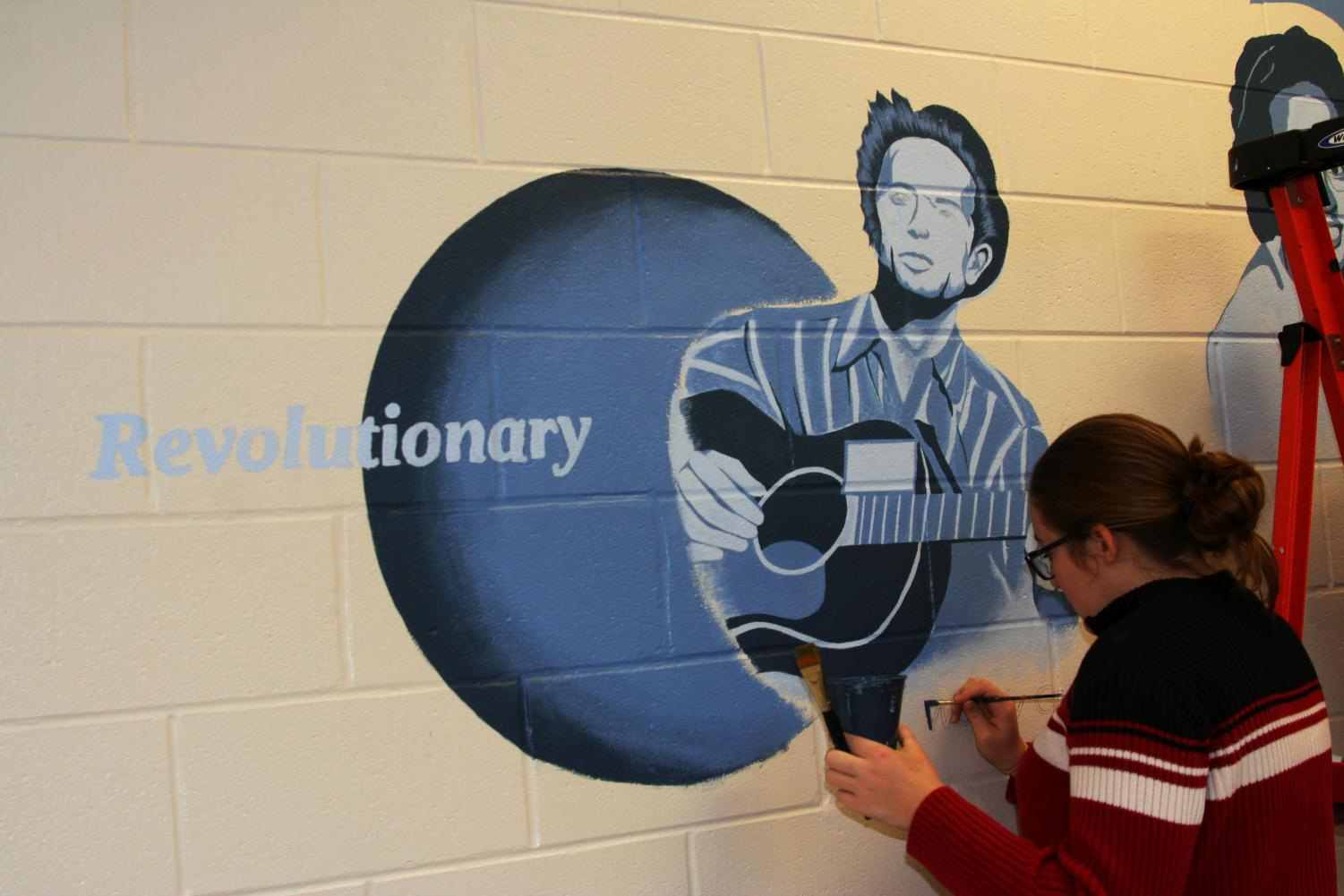 Art students are working very hard to inspire others with this revolutionary mural. Jillian Skalicky/MediaPrime